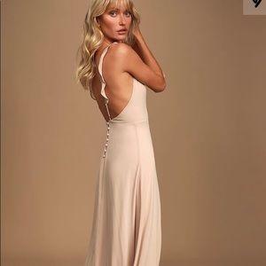 Lulu's Meteoric Rise Blush Maxi Dress in XL